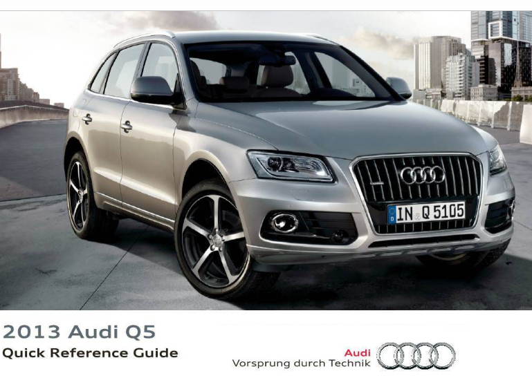 2013 Audi q5 Quick Reference Guide Free Download