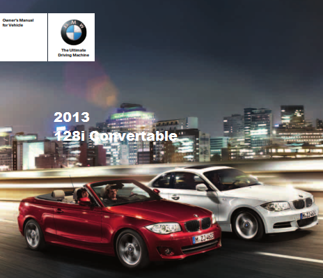 2013 Bmw 128i Convertible Owners Manual Free Download