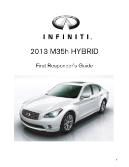 2013 Infiniti Usa M Hybrid First Responders Guide Free Download