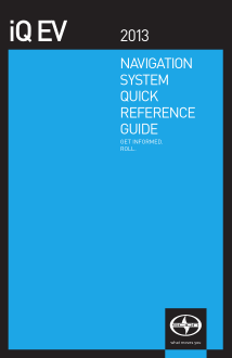 2013 Scion Iq Ev Navigation System Quick Reference Guide Free Download