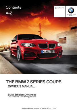 2014 BMW 228i Coupe Owners Manual