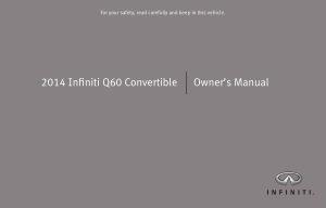 2014 Infiniti Q60 Convertible Owner Manual