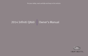 2014 Infiniti QX60 Owner Manual