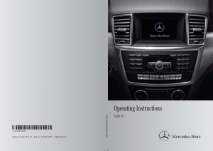 2014 Mercedes Benz C Class Sedan Audio 20 Operating Instruction Manual