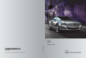 2014 Mercedes Benz CLS Operator Manual