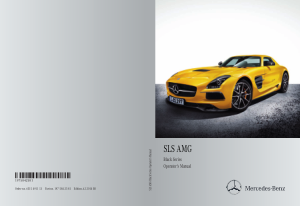 2014 Mercedes Benz SLS Black Series Operator Manual