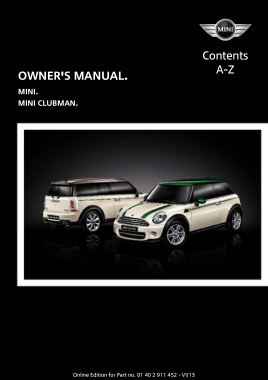 2014 Mini USA CLUBMAN Owners Manual With Navigation
