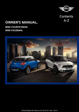 2014 Mini USA COUNTRYMAN Paceman Owners Manual With Navigation