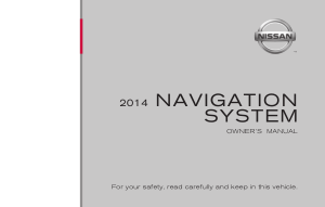 2014 Nissan CUBE LC1 Navigation Manual