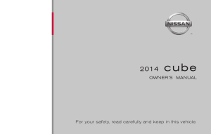 2014 Nissan CUBE Owner Manual