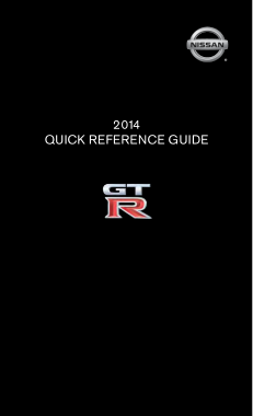 2014 Nissan GTR Quick Reference Guide