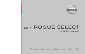 2014 Nissan ROGUE SELECT Owner Manual