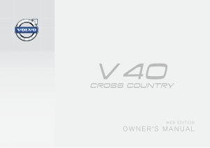 2014 Volvo V40 Cross Country Owners Manual