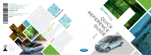 2014 Ford c-max Energi Quick Reference Guide Free Download
