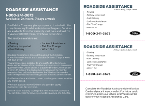 2014 Ford f-550 Roadside Assistance Guide Free Download