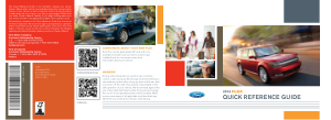 2014 Ford Flex Quick Reference Guide Free Download