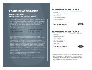 2014 Ford Transit Connect Roadside Assistance Guide Free Download