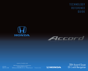 2014 Honda Accord Coupe ex-l With Navigation Technology Reference Guide Free Download