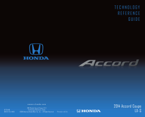 2014 Honda Accord Coupe lx-s Technology Reference Guide Free Download