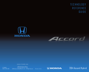 2014 Honda Accord Hybrid Technology Reference Guide Free Download