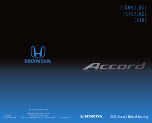 2014 Honda Accord Hybrid Touring Technology Reference Guide Free Download