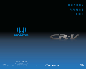 2014 Honda cr-v ex-l With Navigation Technology Reference Guide Free Download