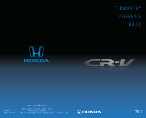 2014 Honda cr-v Lx Ex ex-l And ex-l W Res Technology Reference Guide Free Download