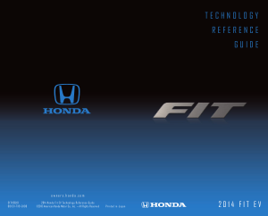 2014 Honda Fit Ev Technology Reference Guide Free Download