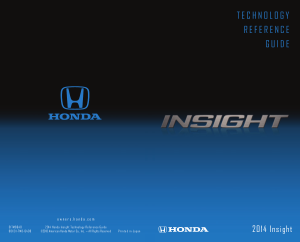 2014 Honda Insight Ex Technology Reference Guide Free Download