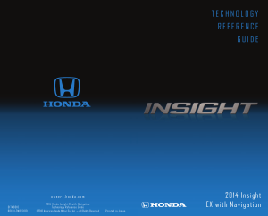 2014 Honda Insight Ex With Navigation Technology Reference Guide Free Download