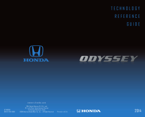 2014 Honda Odyssey Ex ex-l And ex-l With Rear Entertainment System Technology Reference Guide Free Download