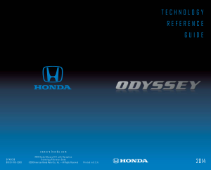 2014 Honda Odyssey ex-l With Navigation Technology Reference Guide Free Download