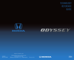 2014 Honda Odyssey Touring And Touring Elite Technology Reference Guide Free Download