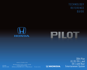2014 Honda Pilot Lx Ex ex-l And ex-l With Res Technology Reference Guide Free Download