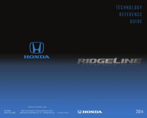 2014 Honda Ridgeline Technology Reference Guide Free Download