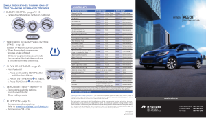 2014 Hyundai Accent Quick Reference Guide Free Download