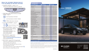 2014 Hyundai Genesis Quick Reference Guide Free Download