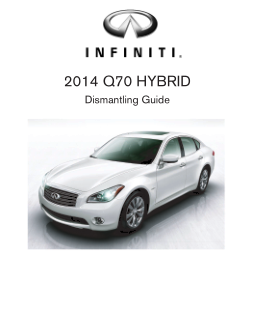 2014 Infiniti Usa q70 Hybrid Dismantling Guide Free Download