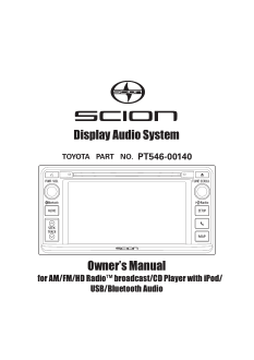 2014 Scion Iq Display Audio System Owners Manual Free Download