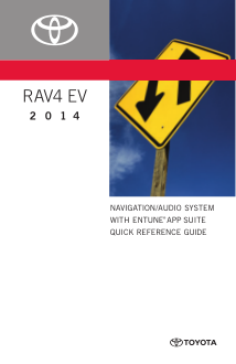 2014 Toyota Prius V Navigation System With Entune App Suite Quick Reference Guide Free Download
