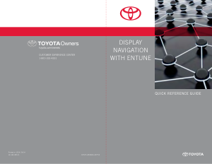 2014 Toyota Sienna Display Navigation With Entune Quick Reference Guide Free Download