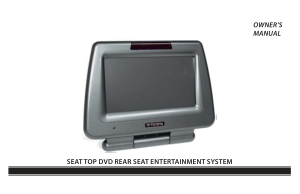 2014 Toyota Sienna Seat Dvd Rear Seat Entertainment System Owners Manual Free Download