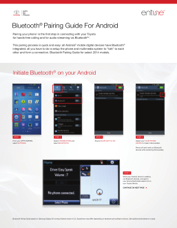 2014 Toyota Tundra Bluetooth Pairing Guide For Android Free Download