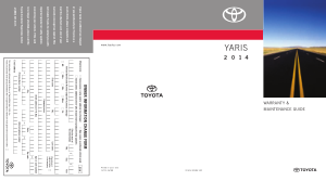2014 Toyota Yaris Warranty And Maintenance Guide Free Download