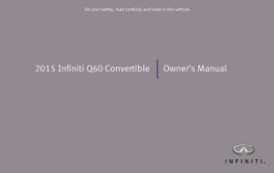 2015 Infiniti Q60 Convertible Owner Manual