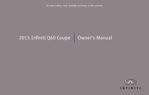 2015 Infiniti Q60 Coupe Owner Manual