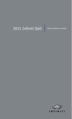2015 Infiniti Q60 Coupe Quick Reference Guide