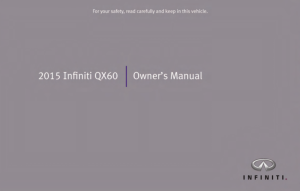 2015 Infiniti QX60 Owner Manual