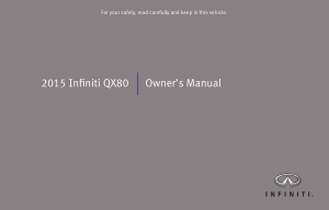 2015 Infiniti Qx80 Owner Manual