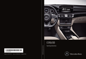 2015 Mercedes Benz CLS COMAND Manual